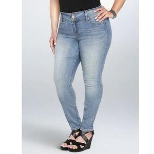 TORRID Jeggings 3 Button Higher Rise Jeans EUC!